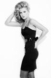Beautiful blonde posing Stock Images
