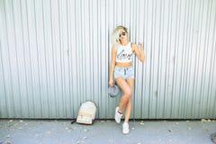 Beautiful blonde posing Royalty Free Stock Photography