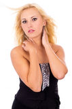 Beautiful blonde posing in studio Royalty Free Stock Photo