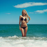 Beautiful blonde at the sea Stock Image