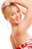 Beautiful blonde smiles Royalty Free Stock Photos