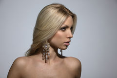 Beautiful blonde, studio shot Royalty Free Stock Images