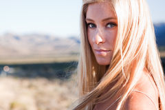 Beautiful blonde in the sun Royalty Free Stock Images