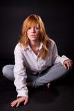 Beautiful blonde teen girl Stock Image