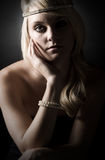 Beautiful Blonde Teenage Girl Stock Photography