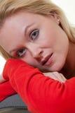 Beautiful blonde thirties caucasian woman Royalty Free Stock Image
