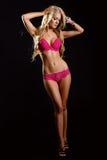 Beautiful blonde in underwear Stock Photos