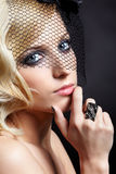 Beautiful blonde in veil Stock Image