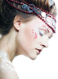 beautiful blonde winter snow queen Royalty Free Stock Images