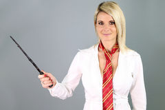Beautiful blonde witch Stock Photo