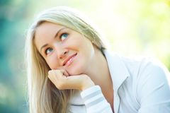 Beautiful blonde woman Stock Photo