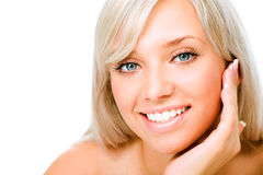 Beautiful blonde woman Stock Images