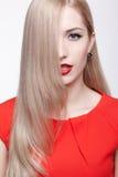 Beautiful blonde woman Stock Images