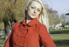 Beautiful blonde woman with blue eyes Stock Images