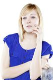 Beautiful blonde woman in casual attire Stock Photography