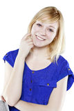Beautiful blonde woman in casual attire Royalty Free Stock Images