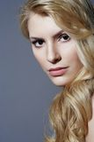 Beautiful blonde woman close-up portrait Stock Photo