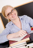 Beautiful Blonde Woman College Instructor Teacher Royalty Free Stock Photography
