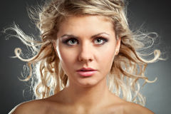Beautiful blonde woman face Royalty Free Stock Photos