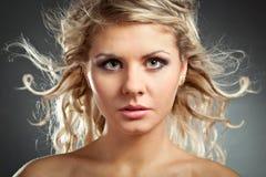 Beautiful blonde woman face Royalty Free Stock Photos