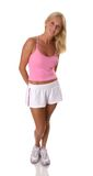 Beautiful blonde woman in fitness clothes Stock Photography
