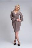 Beautiful blonde woman. full length Stock Photography