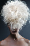 Beautiful Blonde Woman. Healthy Long Curly Hair Royalty Free Stock Photos