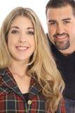 Beautiful blonde woman & latino man Stock Images