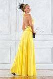 Beautiful blonde woman in a long dress. Royalty Free Stock Photos
