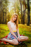 Beautiful blonde woman outdoor. Portrait of a beautiful blonde woman outdoor Stock Images