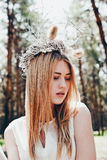 Beautiful blonde woman outdoor. Portrait of a beautiful young woman outdoor Royalty Free Stock Photography