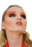 Beautiful blonde woman portrait Stock Images