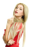 Beautiful blonde woman portrait Stock Image
