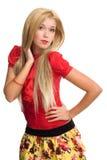 Beautiful blonde woman portrait Stock Image