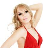 Beautiful blonde woman portrait Royalty Free Stock Photos