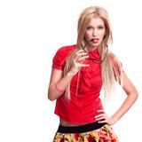 Beautiful blonde woman portrait Royalty Free Stock Photography