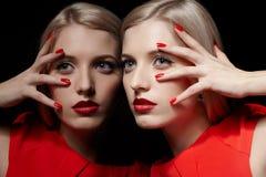 Beautiful blonde woman Stock Photos