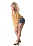 Beautiful blonde woman posing Royalty Free Stock Image