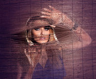 Beautiful blonde woman posing Stock Photos