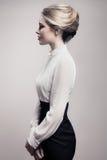 Beautiful Blonde Woman. Retro Fashion Image. Stock Photography