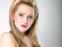 Beautiful blonde woman retro styling Stock Image