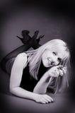 Beautiful blonde woman smoking a cigarette Royalty Free Stock Photo