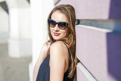 Beautiful blonde woman in sunglasses Royalty Free Stock Photos