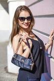 Beautiful blonde woman in sunglasses Stock Image