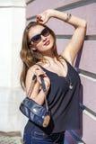 Beautiful blonde woman in sunglasses Stock Photos