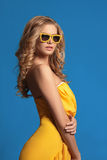 Beautiful blonde woman in sunglasses Royalty Free Stock Image