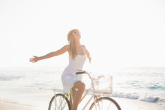 Beautiful blonde woman on a sunny day Stock Images