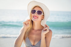 Beautiful blonde woman on a sunny day Royalty Free Stock Photo