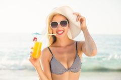Beautiful blonde woman on a sunny day Royalty Free Stock Images