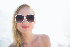 Beautiful blonde woman on a sunny day Stock Image